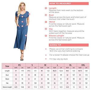 Ink+Ivy Womens Maxi Dresses | Summer Casual Long Dress Swim Cover Up with Pockets