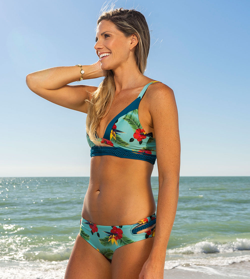 Amanda Bikini Set - Sea Salt Hibiscus