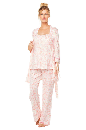 Bella Maternity 3-Piece Printed Pajama Set