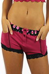 Boxer Brief Dark Rose with Evening Rose Band