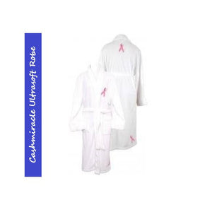 Cashmiracle Robe Breast Cancer Ribbon