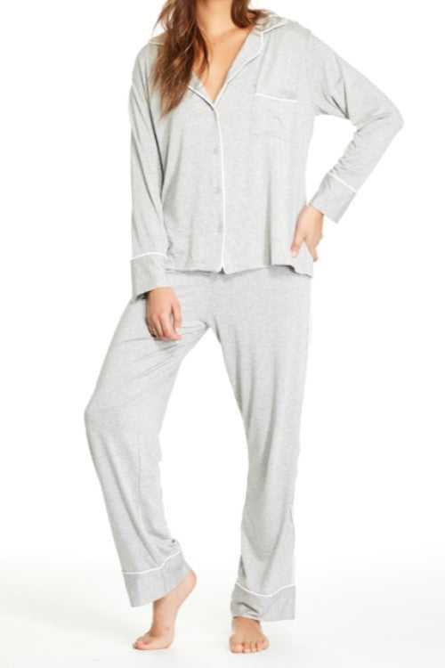 Monaco Pajama Set Heather Gray