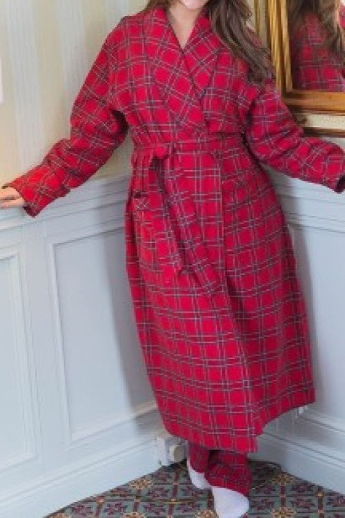 Robe Lee Valley Flannelette Red Tartan Royal Stewart