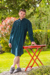 Cotton Flannel Nightshirt Green Tartan Blackwatch