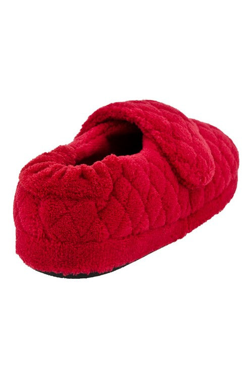 Acorn Spa Wrap Slippers Scarlet