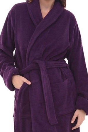 Terry Cotton Robe Purple