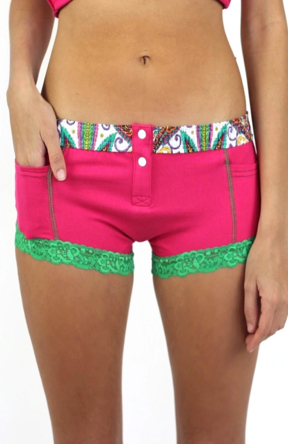 So Paisley Electric Pink Boxer Brief