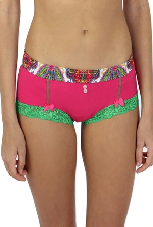 So Paisley Electric Pink Boyshort