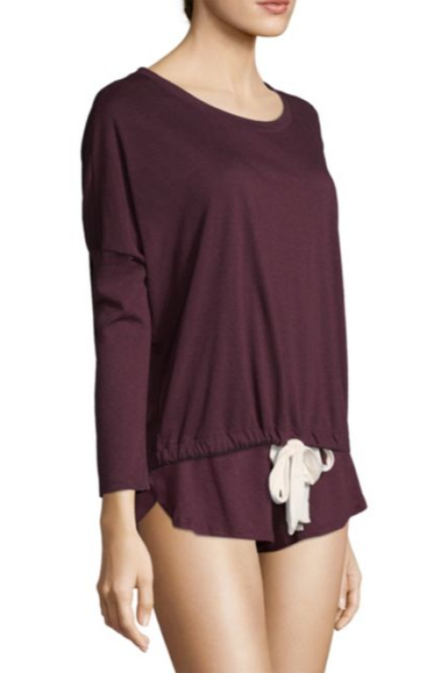 Heather Slouchy Top Vineyard Wine