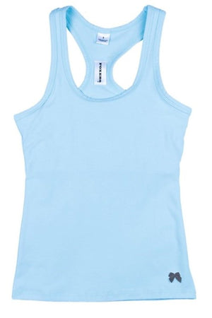 Racerback Shelf Bra Tank Top Light Blue
