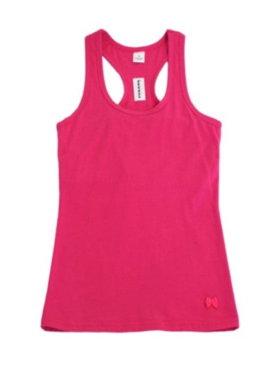 Racerback Shelf Bra Tank Top Electric Pink