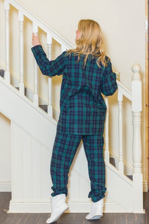 Pajamas Lee Valley Flannel Green Tartan Blackwatch