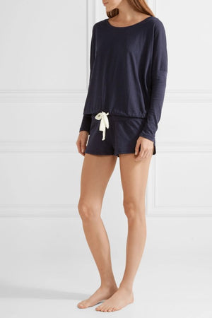 Heather Lounge Shorts Deep Blue