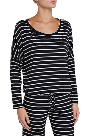 Lounge Stripes Slouchy Tee