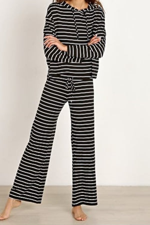 Lounge Stripes Wide Leg Pant