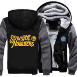 Golden State Warriors Zipper Hoodies Thicken Fleece Printing Pattern