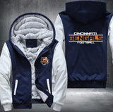 Cincinnati Bengals Zipper Hoodies Thicken Fleece Printing Pattern