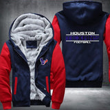 Houston Texans Zipper Hoodies Thicken Fleece Printing Pattern