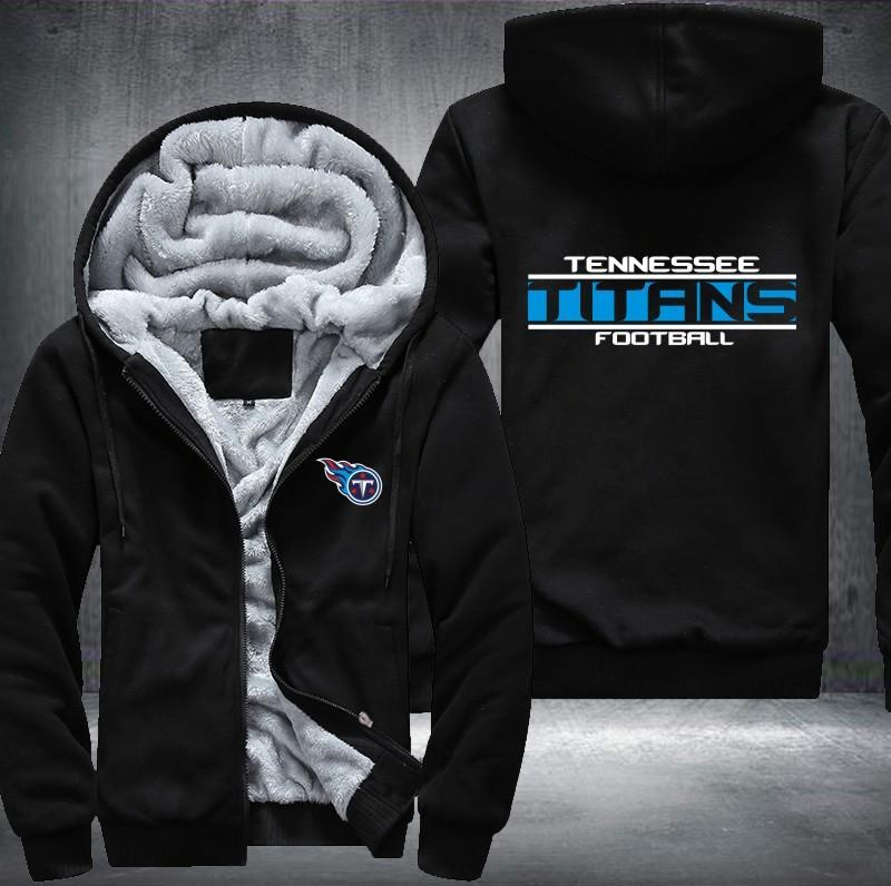 Tennessee Titans Zipper Hoodies Thicken Fleece Printing Pattern  free shipping
