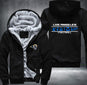 Los Angeles Rams Zipper Hoodies Thicken Fleece Printing Pattern