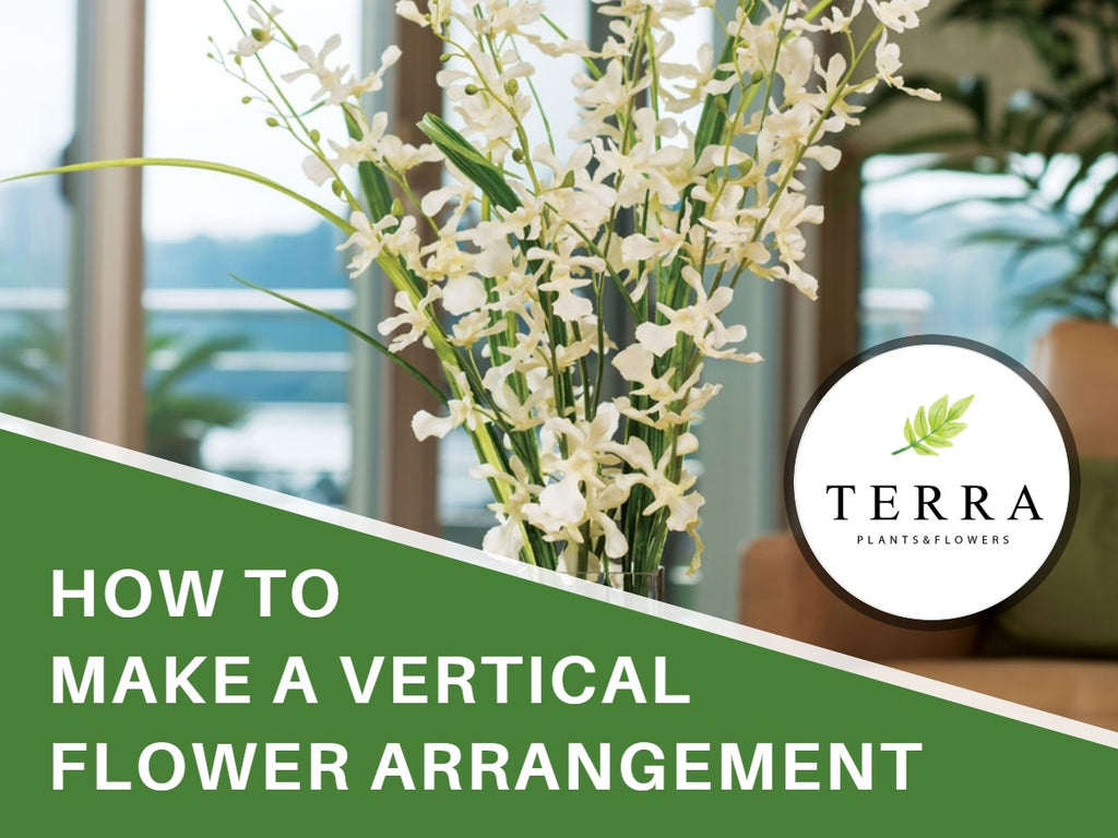 How to Make a Vertical Flower Arrangement?
