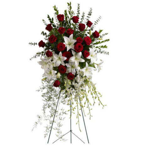 Standing Spray & Wreath from Terra Plants & Flowers