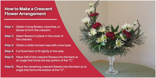 How to make a crescent flower arrangement | Terra Plants & Flowers