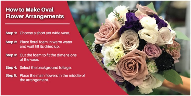 How to make oval flower arrangements | Terra Plants & Flowers