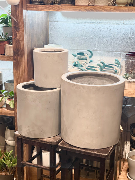 Grey Earth Stone Pot