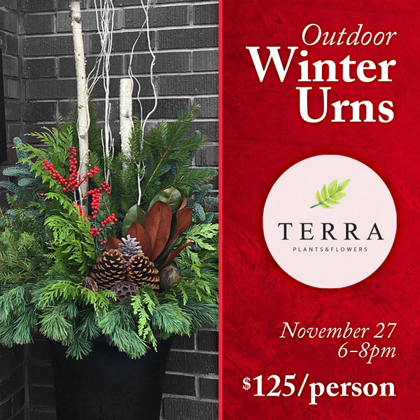WINTER OUTDOOR URN WORKSHOP