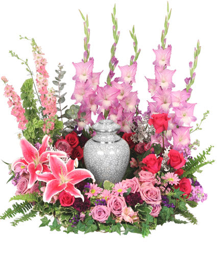 Always In Our Hearts Urn Cremation Flowers
