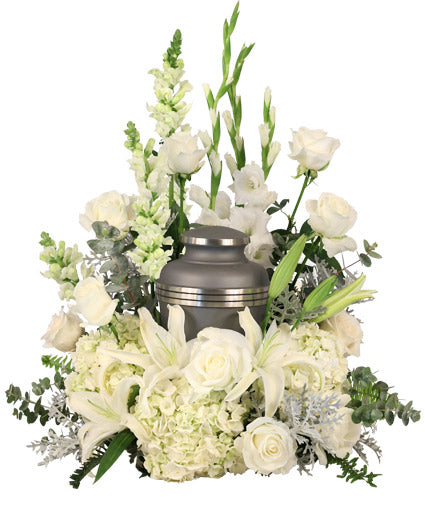 Eternal Peace Urn Cremation Flowers