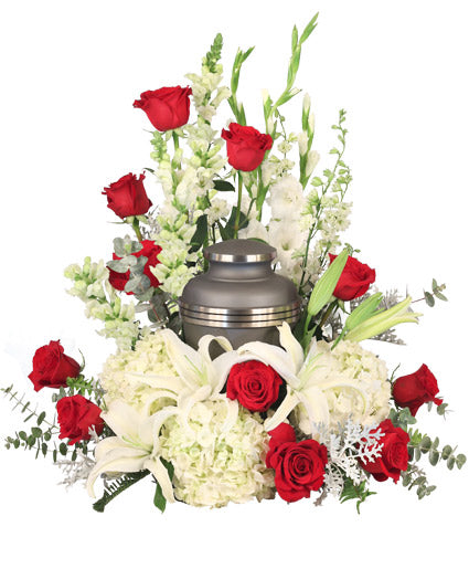 Missing You Urn Cremation Flowers