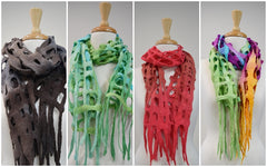 Hand made wool felt scarves by sally ridgway | Buy wool felt online