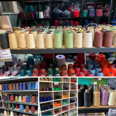 Yarn barn stock display | Sally Ridgway Designs in Felt and Fibre