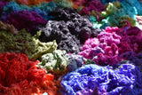 Hand dyed mulberry silk for felting and spinning | Buy mulberry silk online | Sally Ridgway