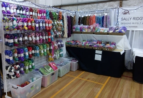 Sally ridgway stall display tasmanian craft fair 2019