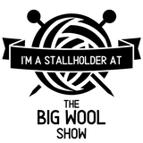 Im a stall holder at The Big wool show logo for sally ridgway