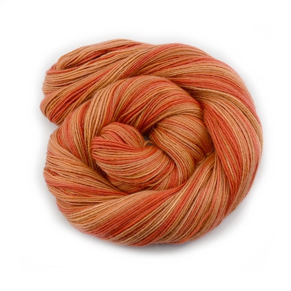 100% Baby Alpaca Yarn 4 Ply Fingering Weight Hand Dyed Orange 12741| 4 Ply Alpaca Yarn | Sally Ridgway | Shop Wool, Felt and Fibre Online