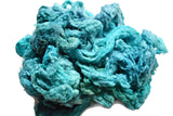 Mulberry Silk Noil Fibre Hand Dyed, Aqua Turquoise 11787