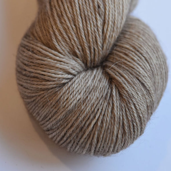 Baby Alpaca Yarn 4 Ply Hand Dyed Soft Brown 4 Ply 12044| 4 Ply Alpaca Yarn | Sally Ridgway | Shop Wool, Felt and Fibre Online