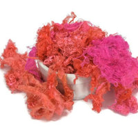 Pink Silk Throwsters Waste Fibre Hot Pink Orange Mix 20 grams 12075| Silk Throwster | Sally Ridgway | Shop Wool, Felt and Fibre Online
