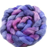 Wool Roving English Leicester Combed Tops Hand Dyed Purple 12121