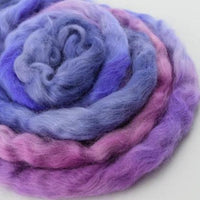 Wool Roving English Leicester Combed Tops Hand Dyed Purple 12121| English Leicester Wool Tops | Sally Ridgway | Shop Wool, Felt and Fibre Online