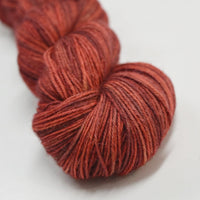 Baby Alpaca Yarn 4 Ply Hand Dyed Hand Painted Yarn Knitting Weaving Crochet Dolls Hair Gifts Rust Red Mix 4 Ply 12244