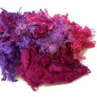 Silk Throwsters Waste Fibre Pink Purple Mix 20 grams 12345| Silk Throwster | Sally Ridgway | Shop Wool, Felt and Fibre Online
