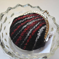 Wool Felted Purse Kiss Lock Coin Purse jewellery purse change bag