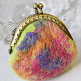 Wool Felted Purse Kiss Lock Coin Purse jewellery purse change bag purch