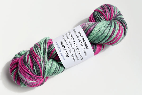 Sock Yarn hand dyed merino wool & nylon knitting crochet yarn
