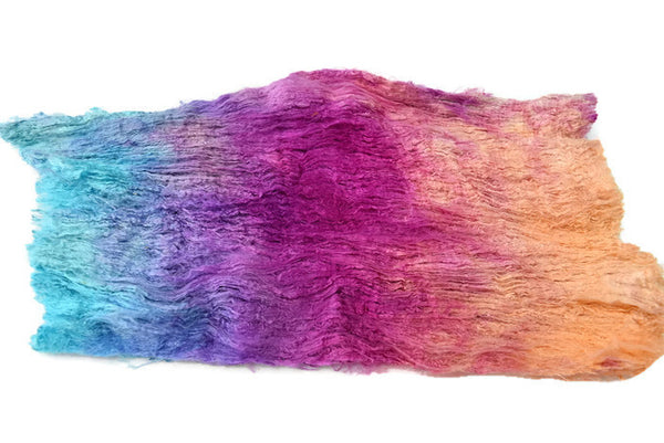 silk cocoon sheet fabric mulberry silk spinning felting blending fiber 12390| Silk Cocoon Sheets | Sally Ridgway | Shop Wool, Felt and Fibre Online
